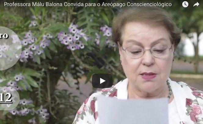 Professora Málu Balona Convida Para O Areópago Conscienciológico